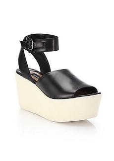 Derek Lam Fabian Leather Wedge Sandals
