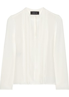 Derek Lam Georgette-paneled silk shirt