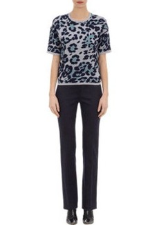Derek Lam Leopard Jacquard Knit Sweater