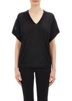 Derek Lam Mesh-Print Back Sweater