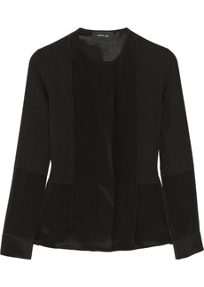 Derek Lam Paneled silk-georgette blouse