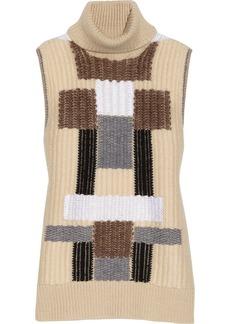 Derek Lam Patterned wool-blend sleeveless sweater