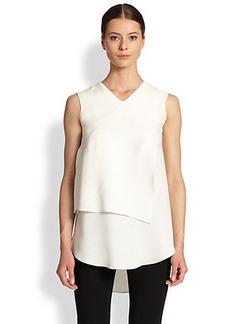 Derek Lam Silk Front-Fold Top