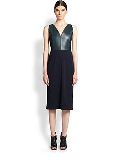 Derek Lam Sleeveless V-Neck Sheath Dress