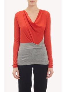 Derek Lam Softly Draped Cowl-Neck Pullover Sweater