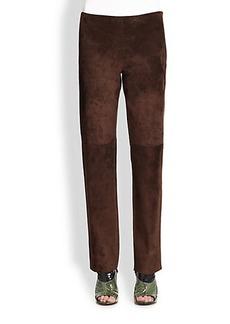 Derek Lam Suede Side-Zip Trousers