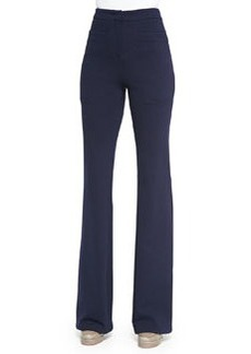 Double-Knit Flared Trousers   Double-Knit Flared Trousers