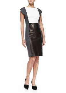 Paper Leather Colorblock Dress   Paper Leather Colorblock Dress