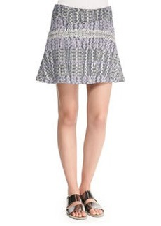 Patterned Asymmetric Flare Skirt   Patterned Asymmetric Flare Skirt