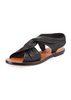 Pell Knotted Flat Sandal, Black   Pell Knotted Flat Sandal, Black