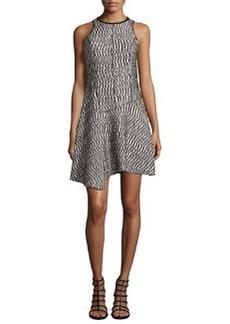 Sleeveless Open-Weave Dress w/Asymmetric Hem   Sleeveless Open-Weave Dress w/Asymmetric Hem