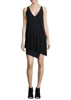 Sleeveless Pleated Asymmetric Dress   Sleeveless Pleated Asymmetric Dress