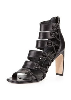 Tansey Multi-Strap Leather Sandal, Black   Tansey Multi-Strap Leather Sandal, Black
