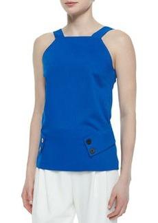 V-Back Belted Knit Top   V-Back Belted Knit Top