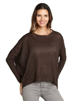 Design History carbon brown oversize knit sweater