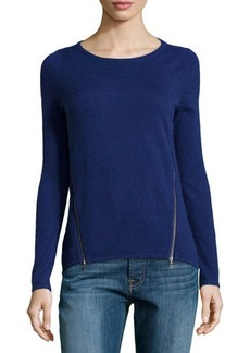 Design History Cashmere-Blend Zip-Detailed Sweater