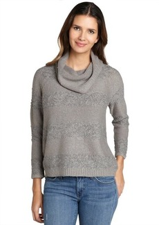 Design History colony heather grey shadow stripe cowlneck sweater
