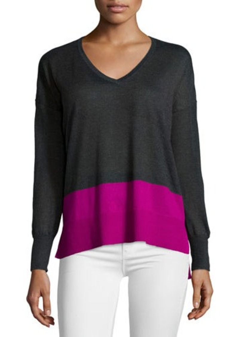 Design History Design History Colorblock V-Neck Sweater ...