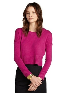 Design History crushed berry cashmere cropped sweater