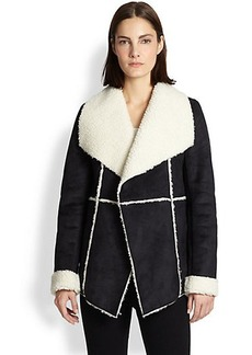 Design History Draped Faux Shearling Jacket