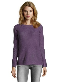 Design History faded violet cable knit raglan sleeve sweater