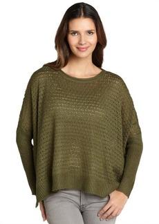 Design History fern green oversize knit sweater