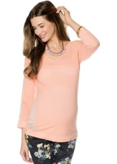 Design History for a Pea in the Pod Long-Sleeve Ribbed Maternity Sweater