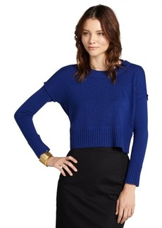 Design History glory blue cashmere cropped sweater