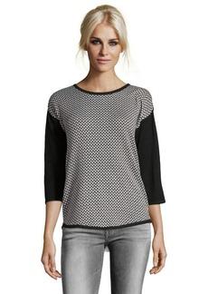 Design History onyx combo knit herringbone sweater