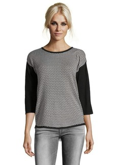 Design History onyx combo knit herringbone sweater