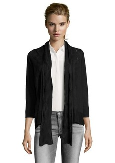 Design History onyx knit open front scarf detail cardigan