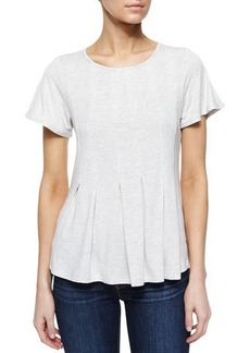 Design History Pleated High-Low Tee