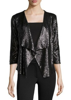 Design History Sequin 3/4-Sleeve Jacket