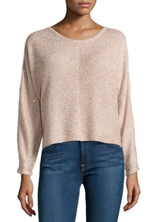 Design History Sequin Cropped Sweater