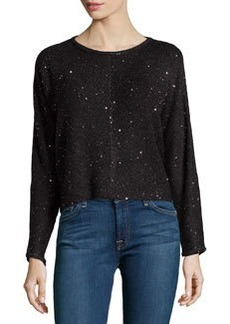 Design History Sequin Cropped Sweater, Onyx