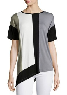 Design History Short-Sleeve Colorblock Jersey Tee