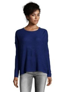 Design History ultramarine wool blend zip detail sweater