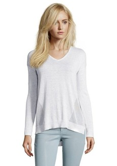 Design History vapor grey knit v-neck hi-low sweater
