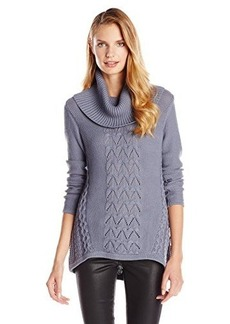 Design History Women's Cable Cowl Neck Sweater