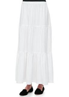 Joan Vass Tiered Long Skirt, Petite