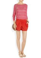 T-Bags Draped crepe shorts