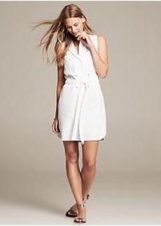 Twill Tie-Front Dress