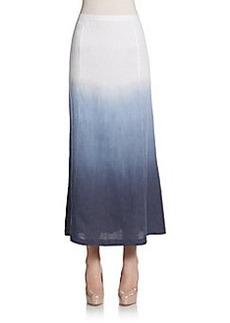 Saks Fifth Avenue BLUE Dip-Dyed Linen Maxi Skirt