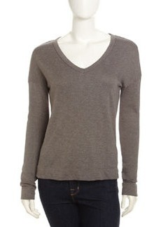 James Perse V-Neck Knit Pullover, Jungle