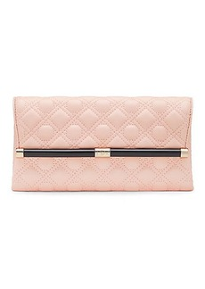 440 Envelope Caning Quilted Leather Clutch