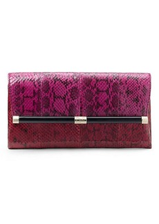 440 Envelope Colorblock Snake Clutch