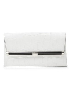 440 Envelope Croc Leather Clutch