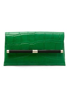 440 Envelope Embossed Croc Clutch