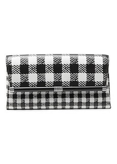 440 Envelope Gingham Printed Leather Clutch
