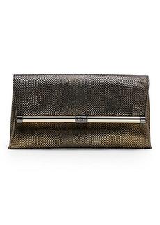 440 Envelope Metallic Caviar Leather Clutch